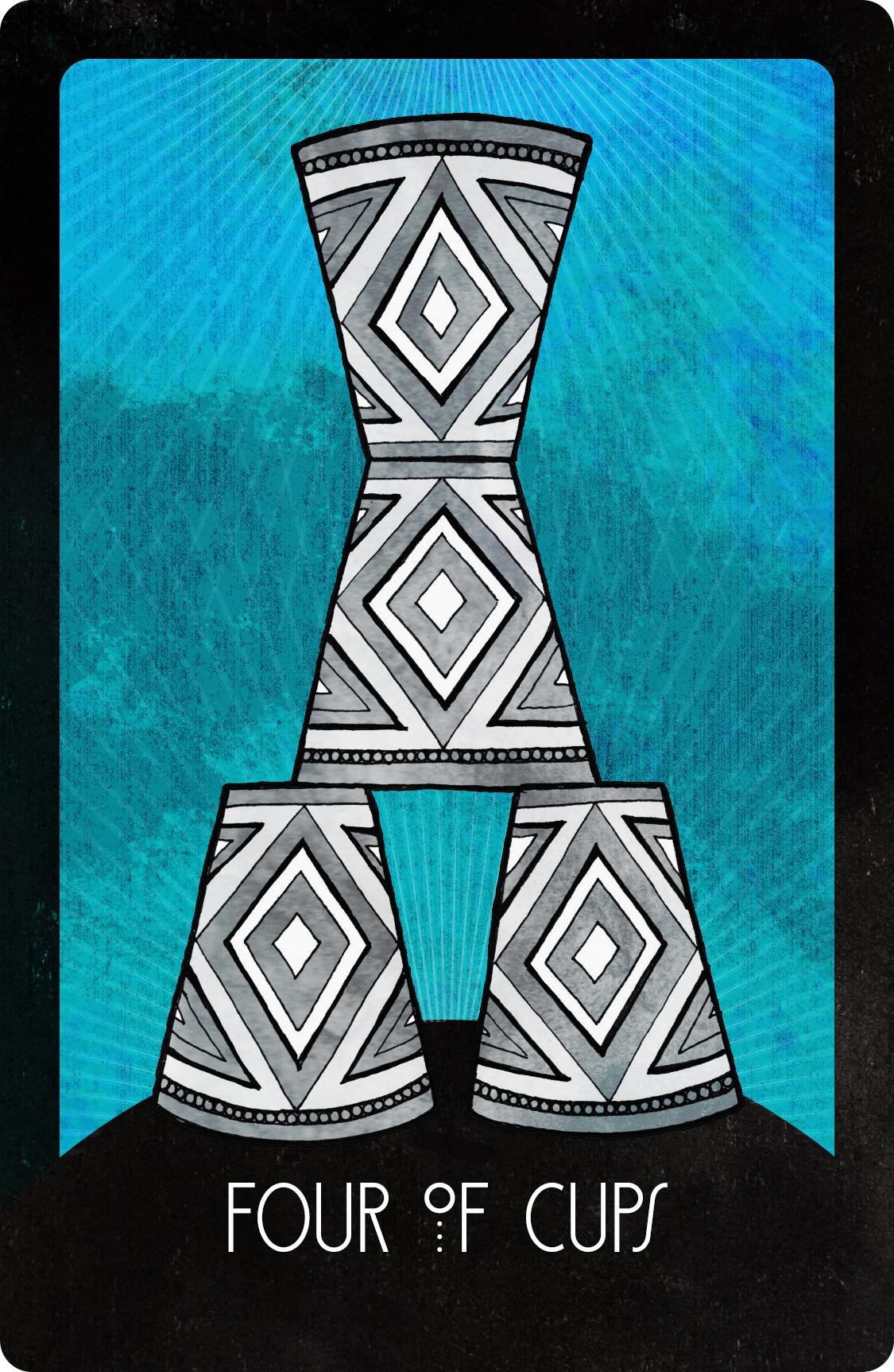 Inspirational Tarot Four of Cups