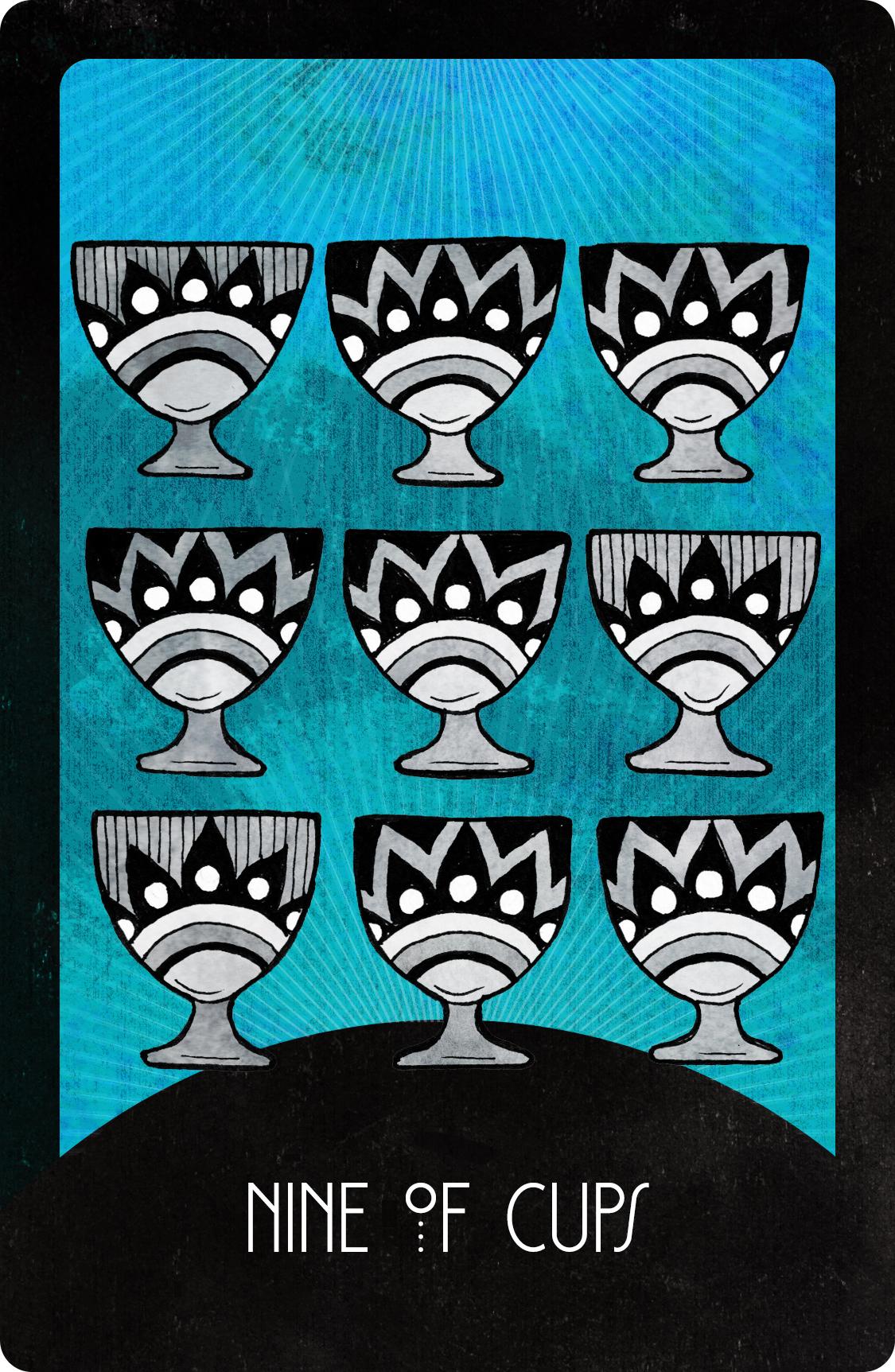 Inspirational Tarot Nine of Cups