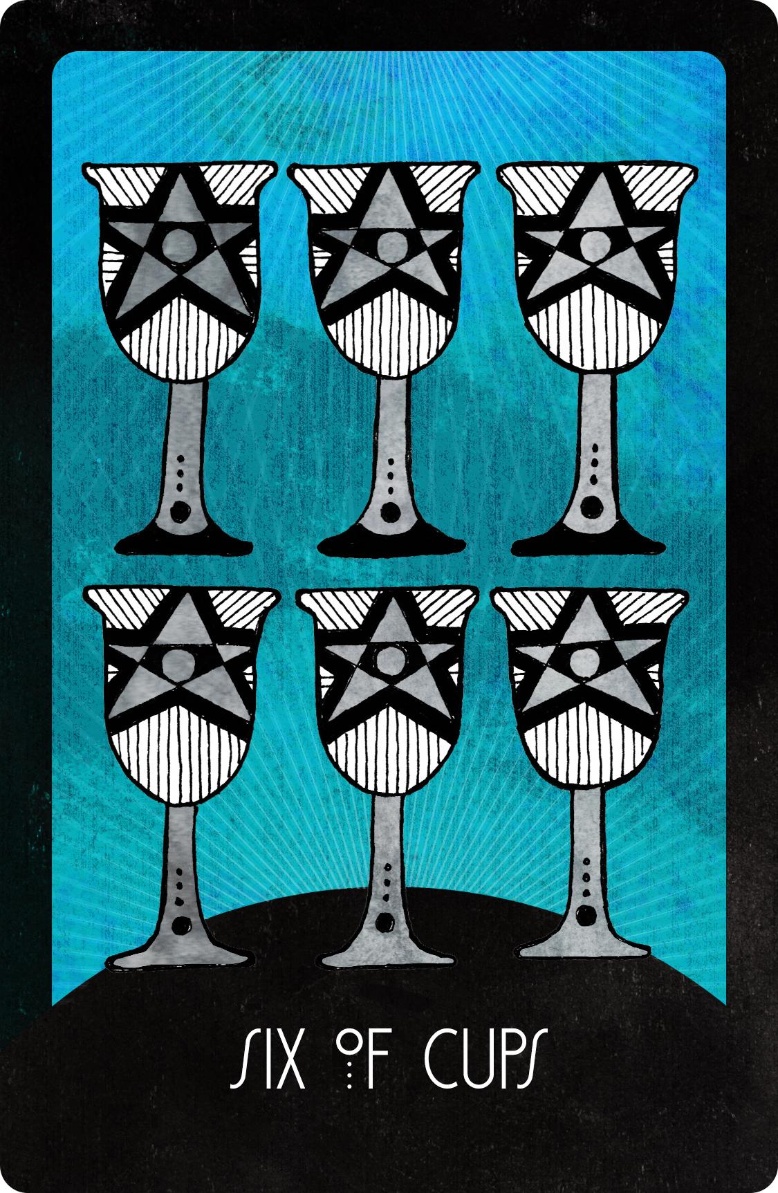 Inspirational Tarot Six of Cups
