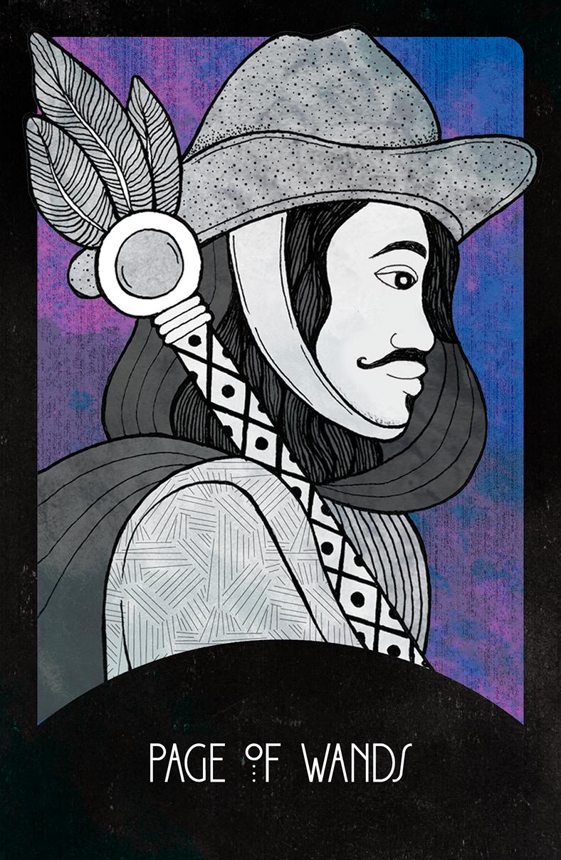 Inspirational Tarot Page of Wands