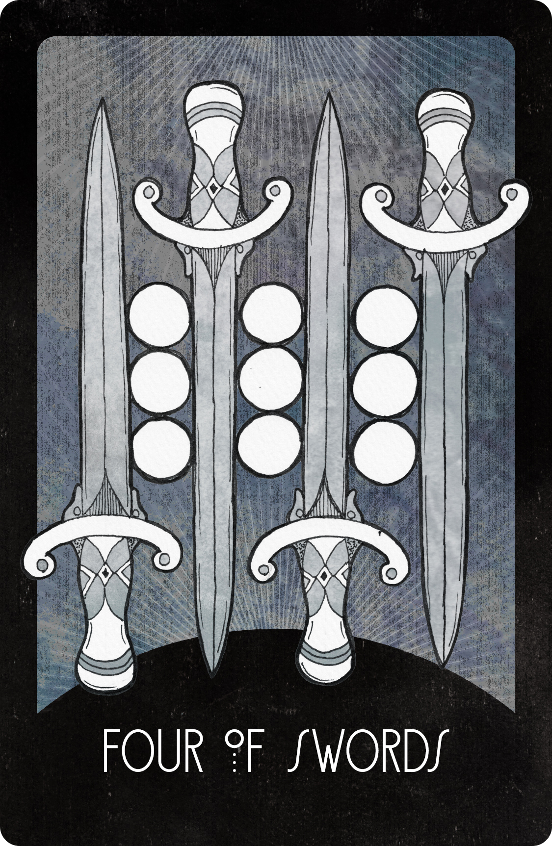 Inspirational Tarot Deck Four of Swords