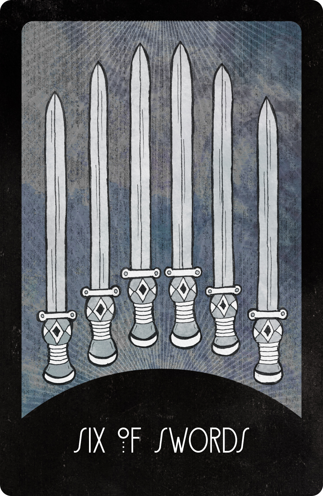 Inspirational Tarot Deck Six of Swords