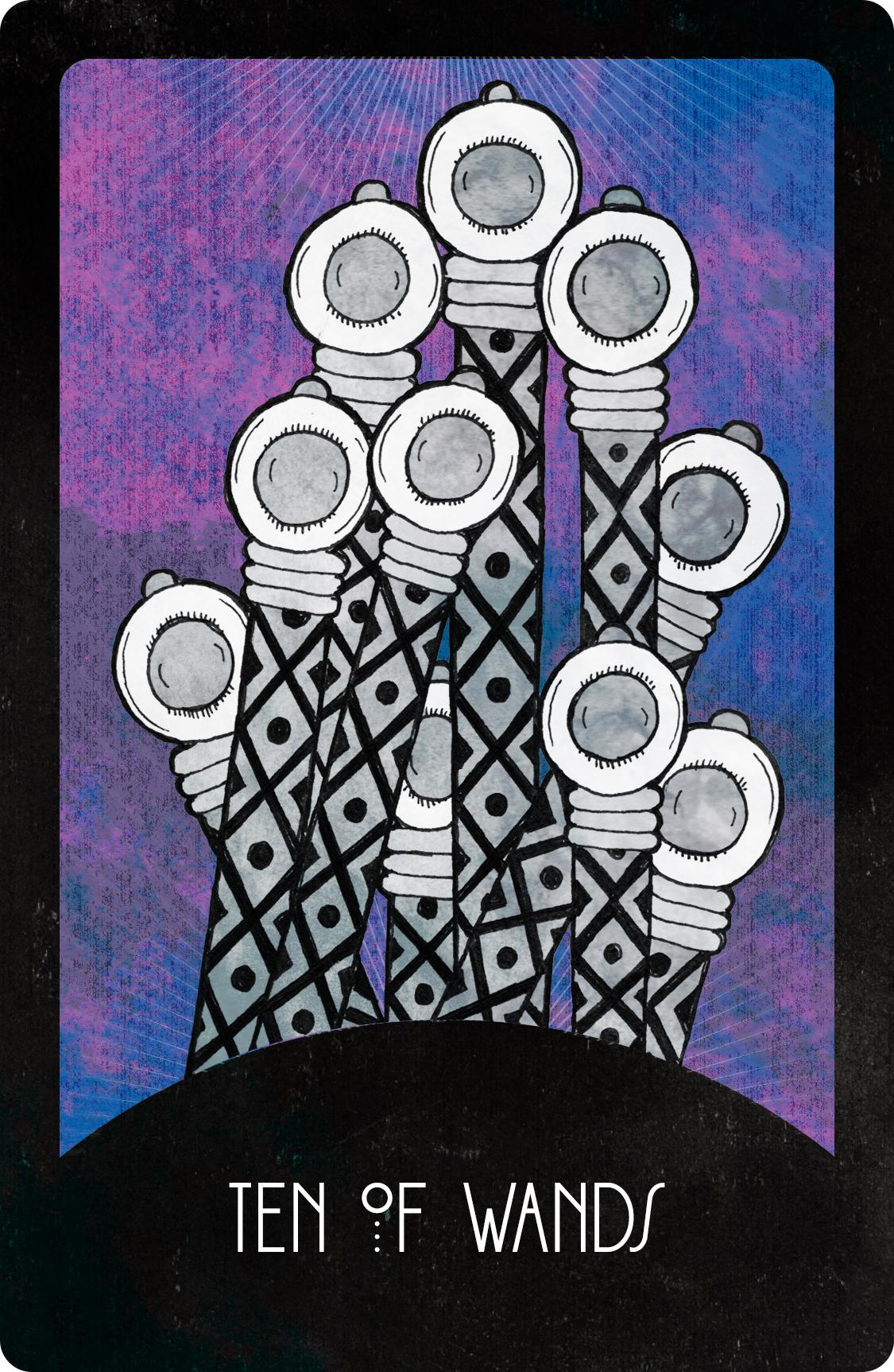 Inspirational Tarot Deck Ten of Wands