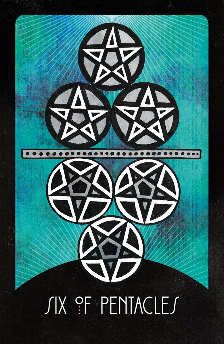Inspirational Tarot Six of Pentacles - Inspirational Tarot