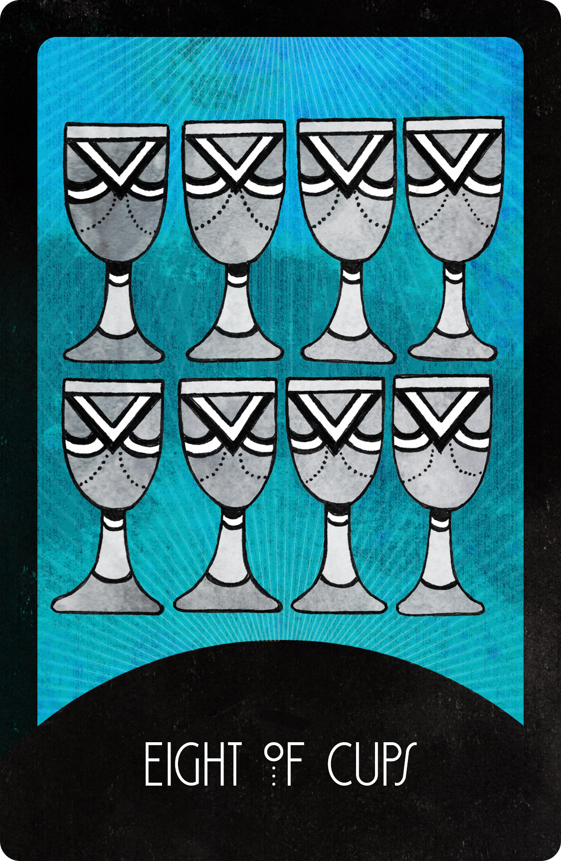 Inspirational Tarot Eight of Cups