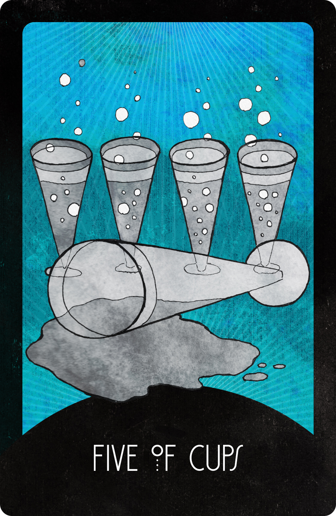 Inspirational Tarot Five of Cups