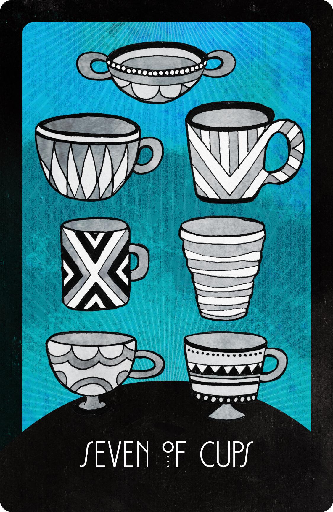 Inspirational Tarot Seven of Cups