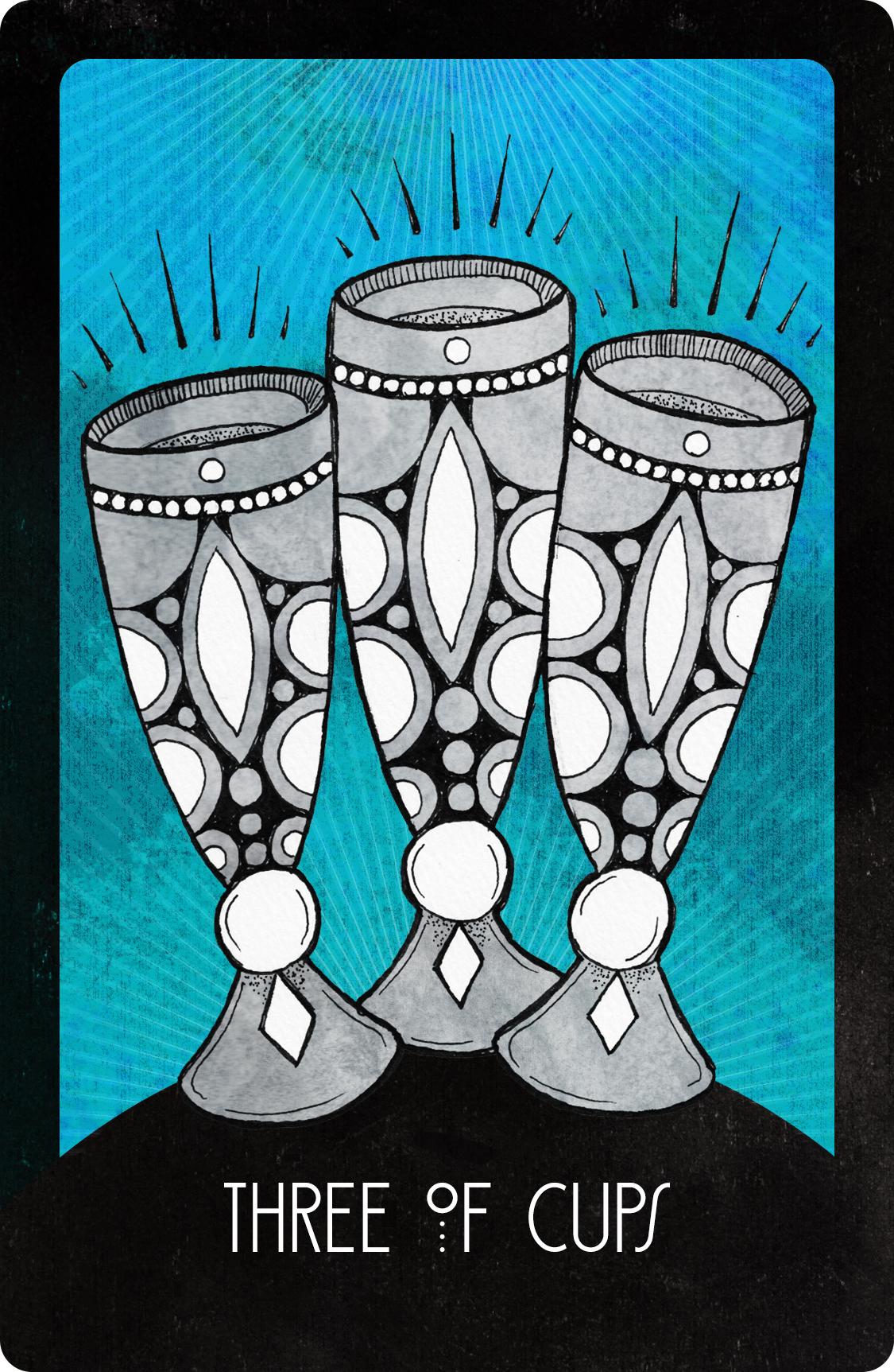 Inspirational Tarot Three of Cups
