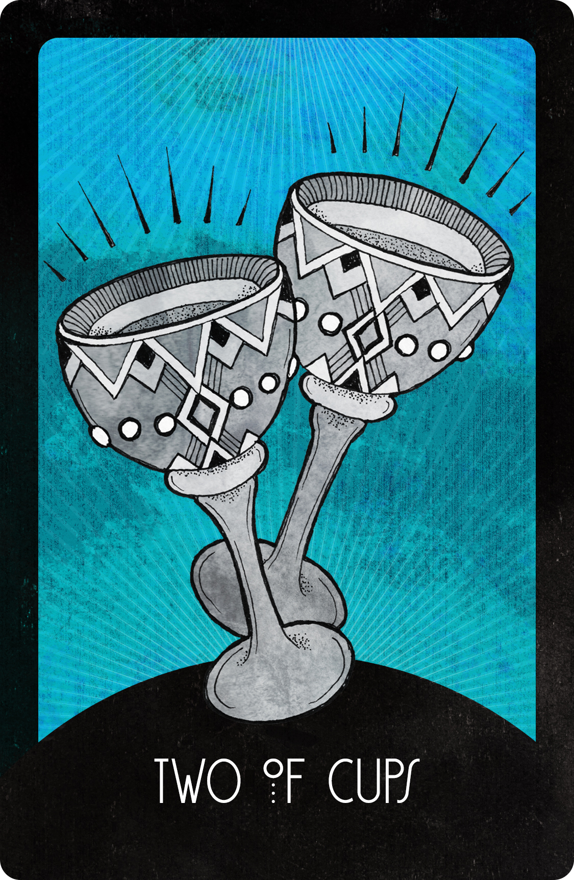 Inspirational Tarot Two of Cups
