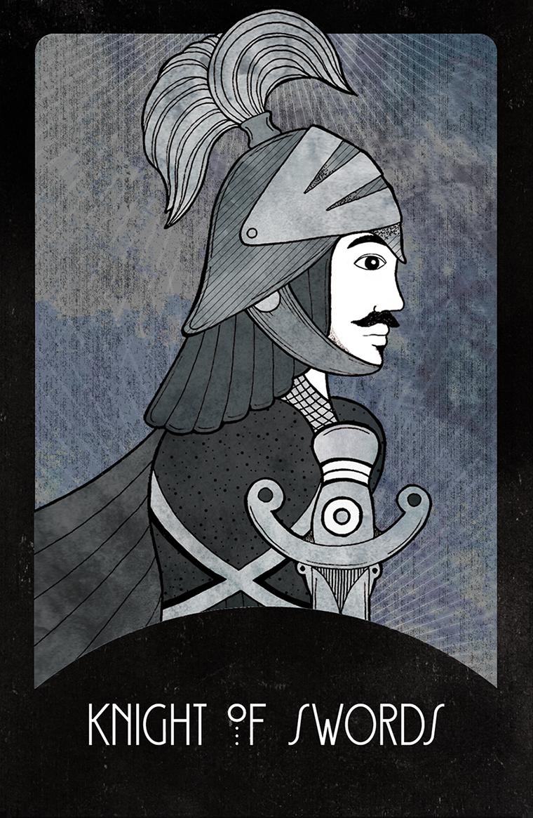 Inspirational Tarot Knight of Swords