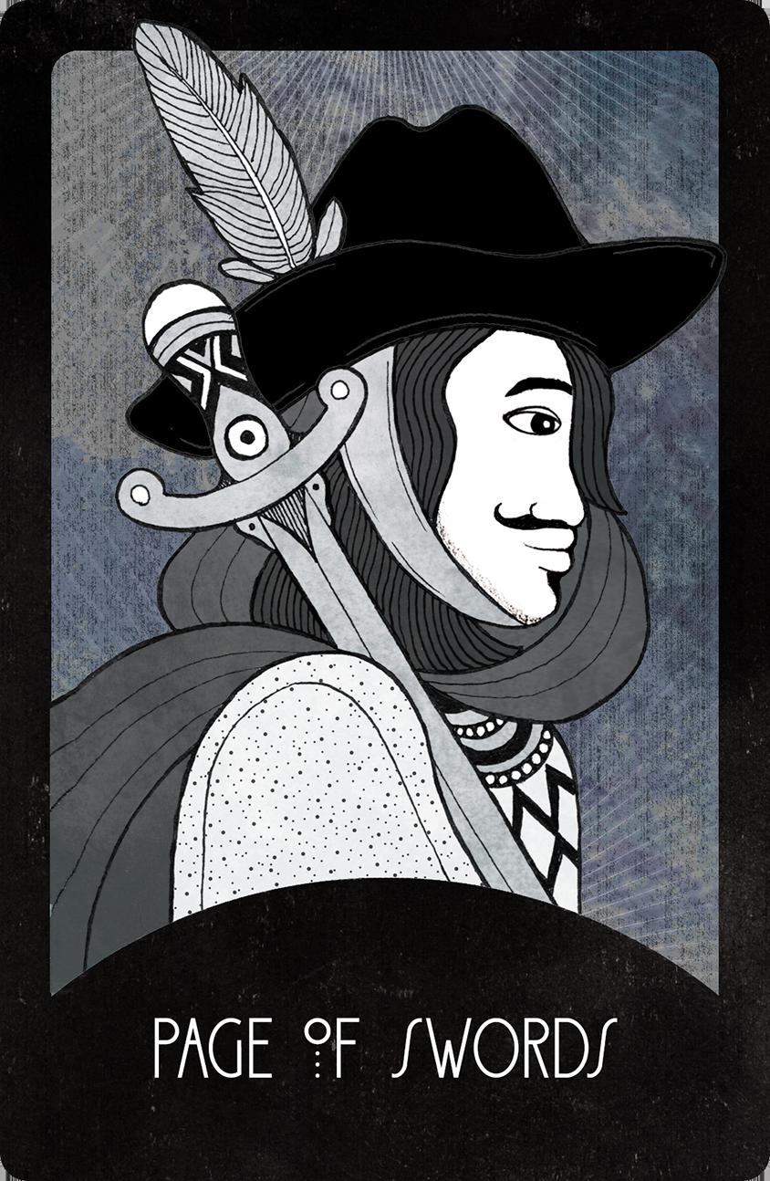 Inspirational Tarot Page of Swords