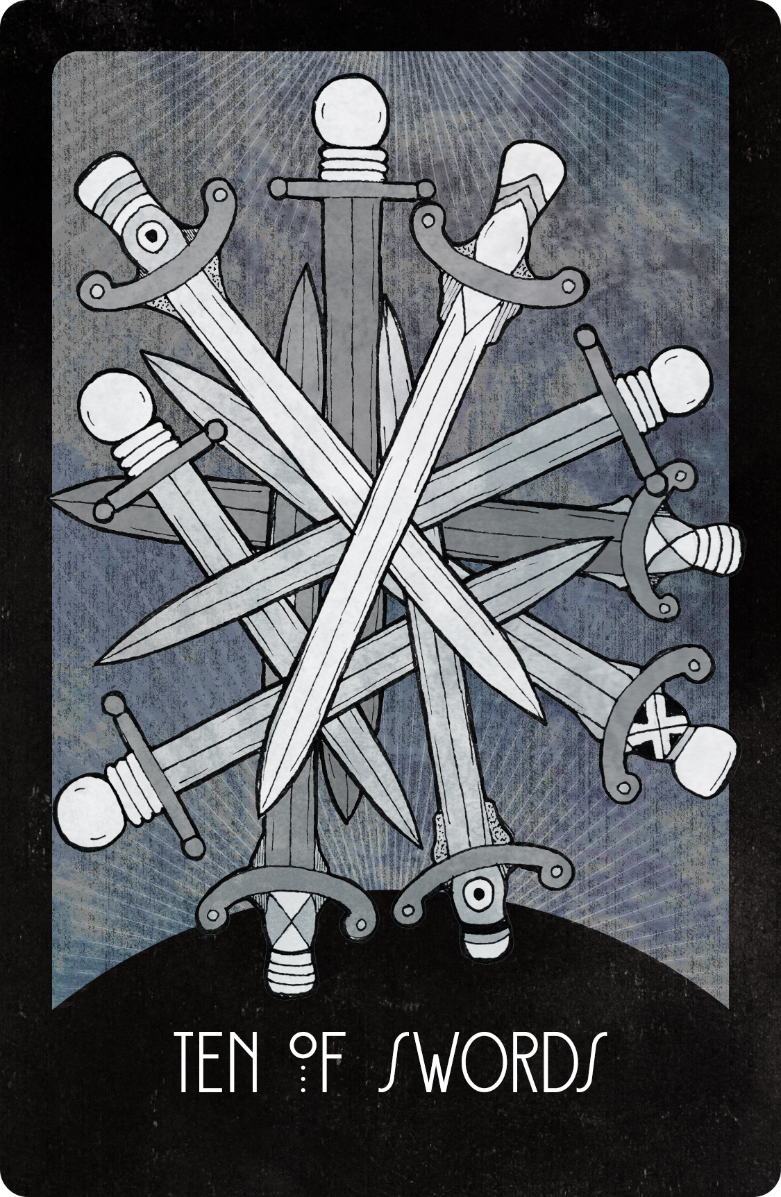 Inspirational Tarot Deck Ten of Swords