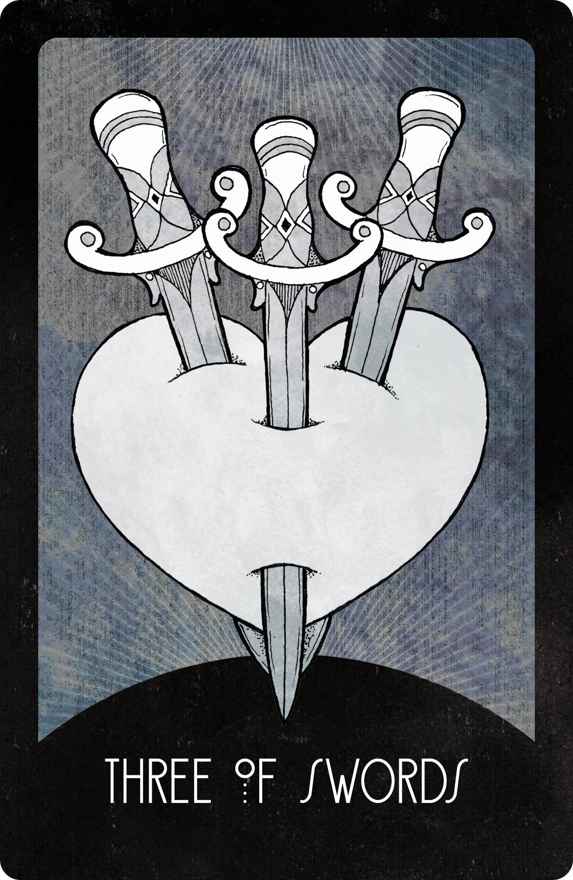 Inspirational Tarot Deck Three of Swords