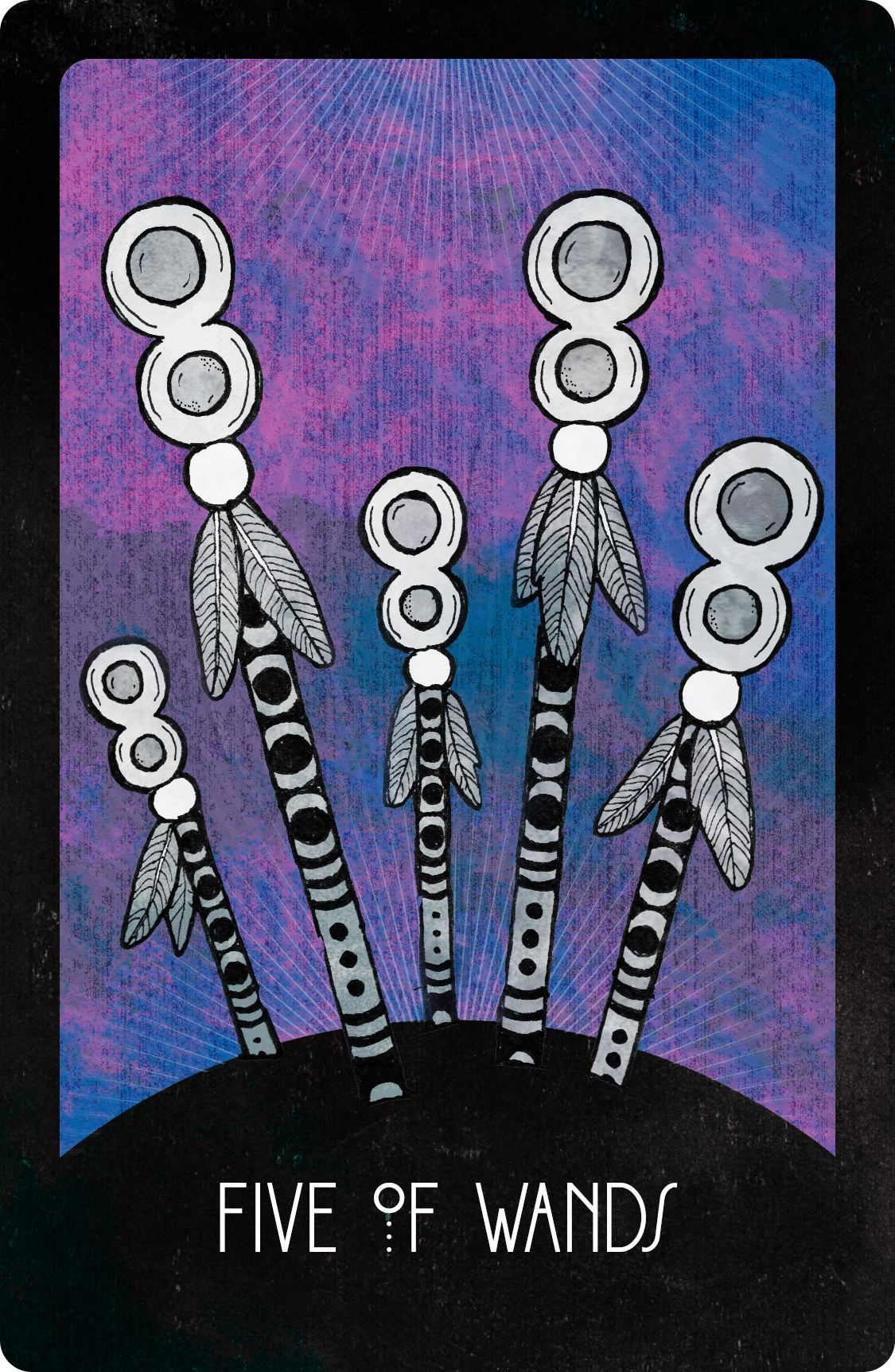 Inspirational Tarot Five of Wands