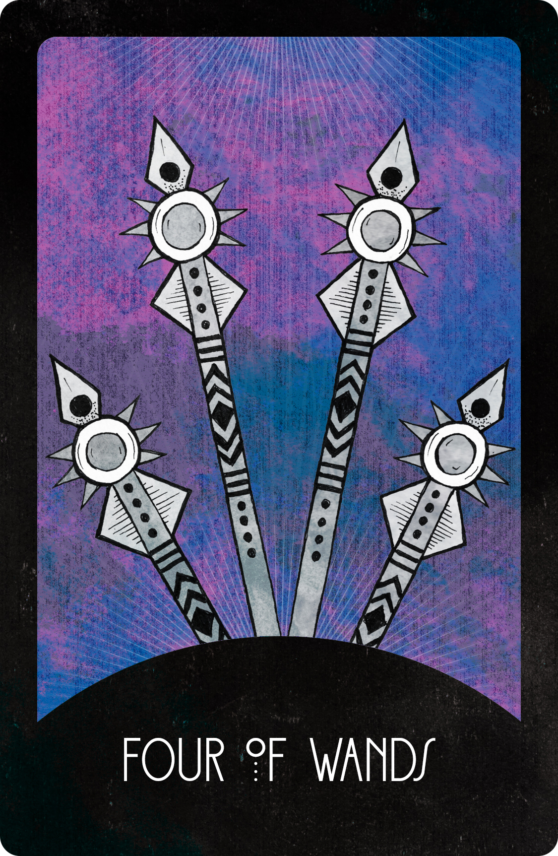 Inspirational Tarot Deck Four Of Wands