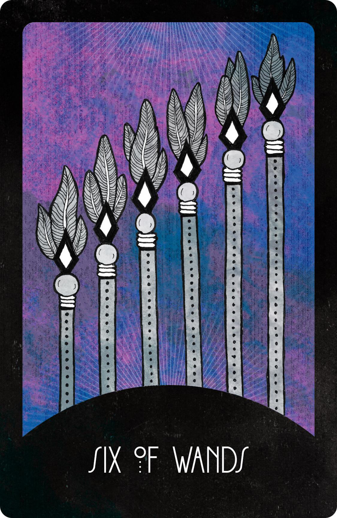 Inspirational Tarot Deck Six of Wands